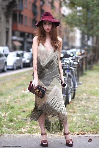 Ploy Chava at Milan fashion week