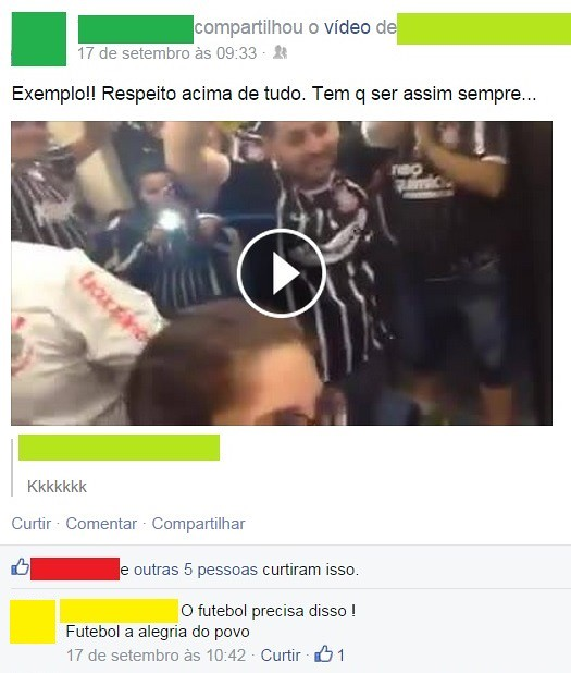 """Respeito"" acima de tudo e a cegueira futebolística"