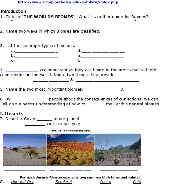 Biomes page 1