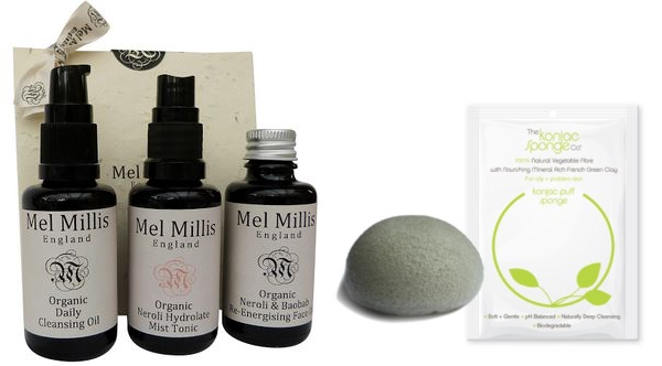 Mel Millis Travel Trio and Konjac Sponge Company