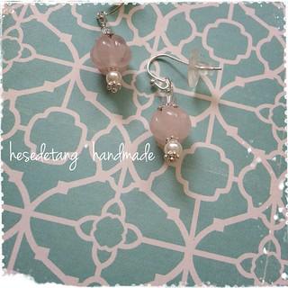 Custom Order - Rose Quartz and freshwater seed pearls
