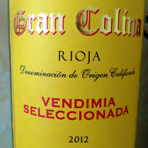 Gran Colona Rioja 2012. Red wine. Wine. Rioja. Spanish wine.