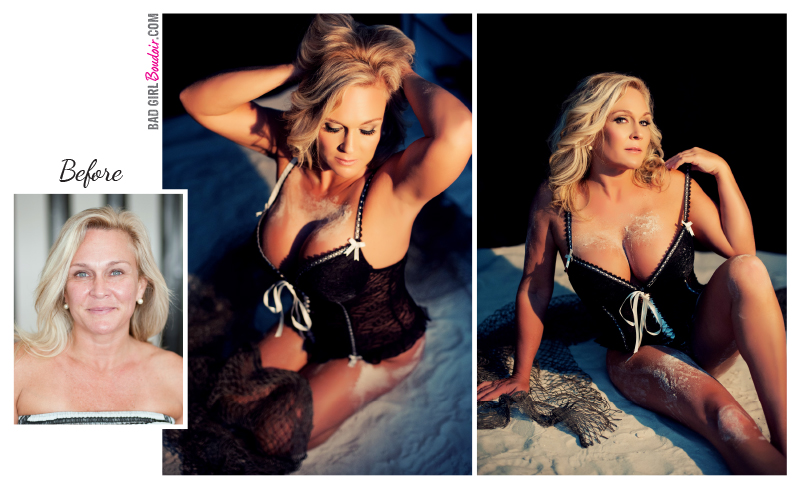 Boudoir before and after beach boudoir Florida