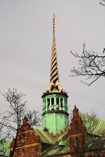 Spire of the Old Stock Exchange, Copenhagen, Denmark