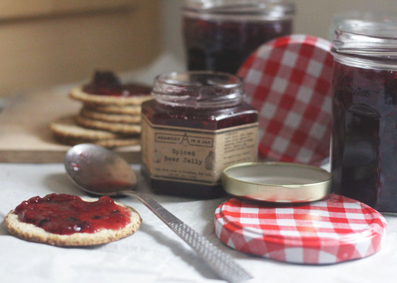 homemade jam in a slow cooker