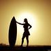 Surf silhouette.