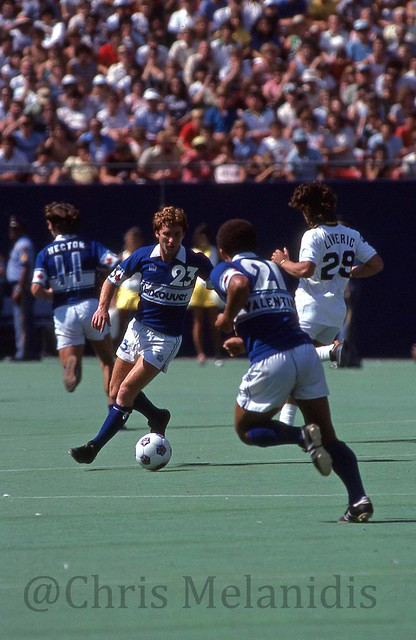 Whitecaps vs Cosmos 1979 Alan Ball, Carl Valentine, Kevin Hector and Marc Liveric