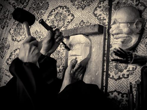 宇高通成 - Udaka Michishige Noh masks workshop - 34