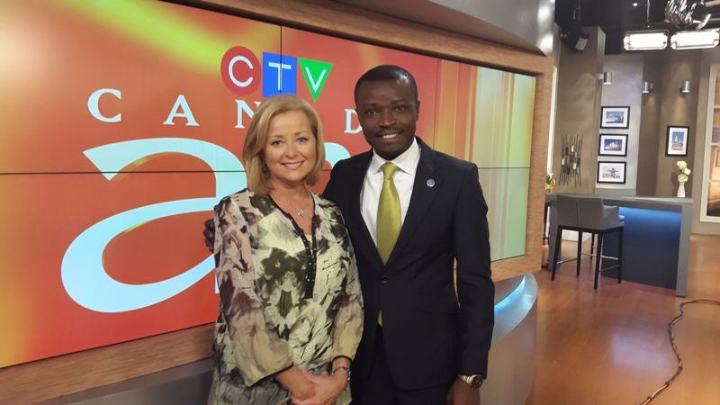 Jefferson with CTV's Beverly Thompson