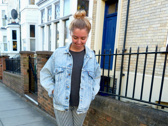 Oversized Denim jacket outfit post