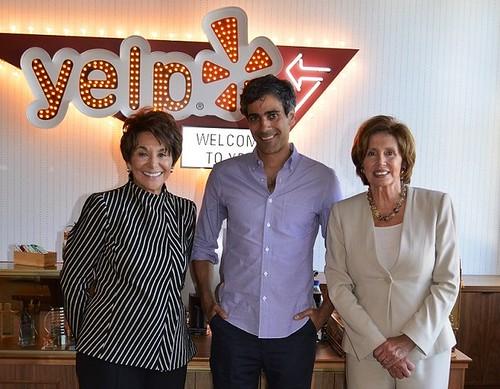 Congresswoman Pelosi and Eshoo visit Yelp