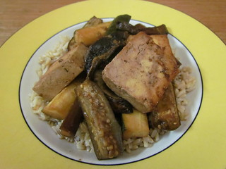 Japanese Eggplant and Tofu Teriyaki