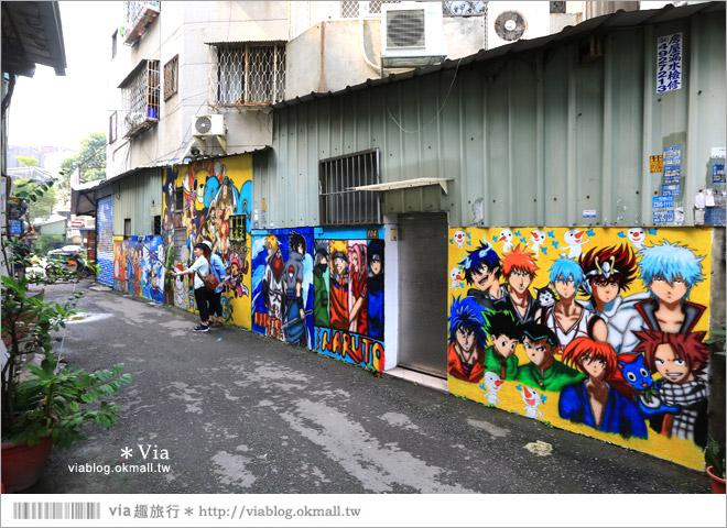 【台中動漫彩繪巷】除了海賊王!還有七龍珠、火影忍者...眾多卡通主題超吸睛!11