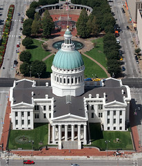 Old Courthouse from the top of the Arch 2