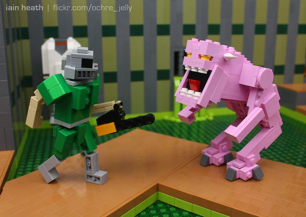 LEGO DOOM: Hey demon, let's carve some meat!