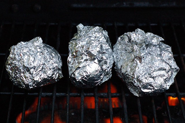 Herb Potatoes in Foil Jackets on the Grill by Eve Fox, The Garden of Eating, copyright 2014
