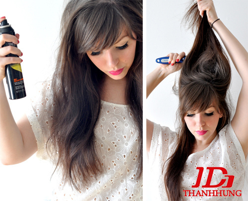 Cách búi tóc đẹp đơn giản! Kiểu búi tóc cao, phồng, xì tin 1