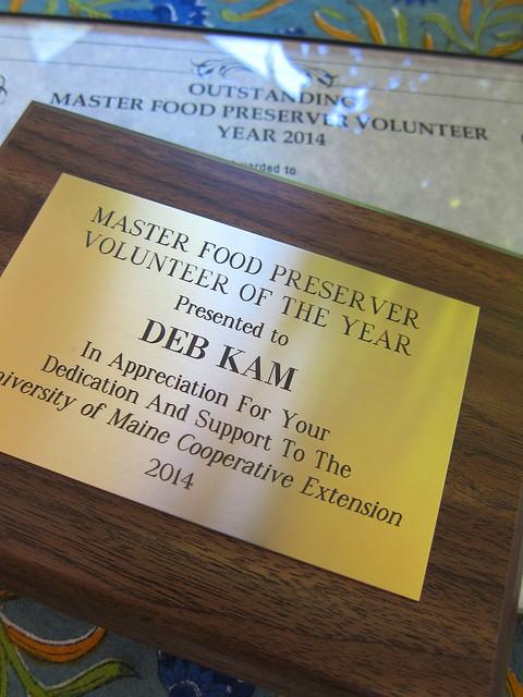 2014 Master Food Preserver Award