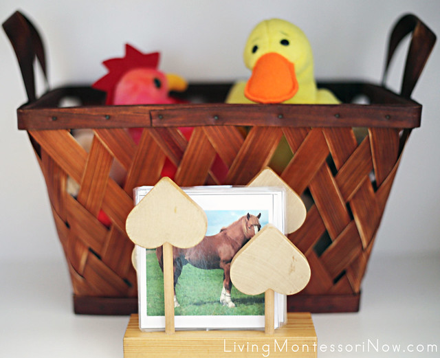 Farm Animal Basket and Cards