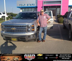 Congratulations to Bill Hoffman on your #Chevrolet #Silverado 1500 purchase from Mark Havens at Four Stars Auto Ranch! #NewCar