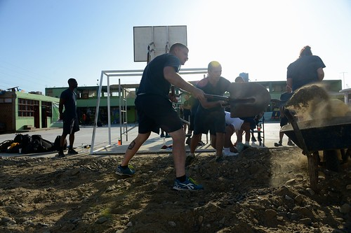 2014 UNITAS Participants Conduct COMREL at Local Salaverry School