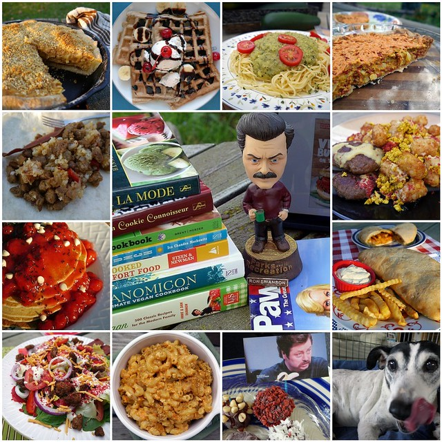 VeganMoFo 2014 Carbs & Rec Collage