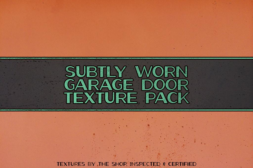 Subtly worn garage door texture pack