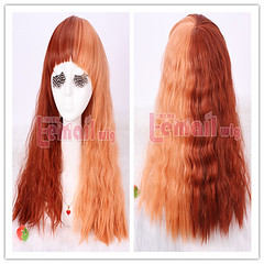 55cm long Rhapsody mix curly wave cosplay wig ZY11-A