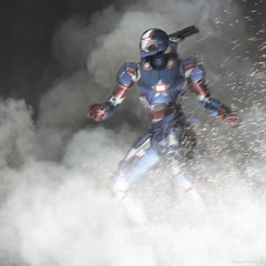 ShFiguarts Iron Patriot is Here. Rhodey is not wearing the armor, nobody drives the machine, so I think it can enter the #roboctober Thing : D