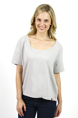 Womens Scoop Neck T-Shirt Alloy