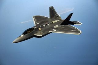 F-22 Over Water