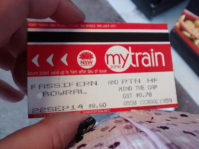Train Ticket Bowral