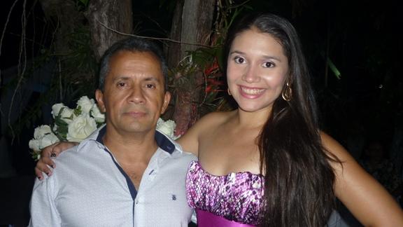 Pedro Fernando Liberal com a sobrinha Nalme Vianna