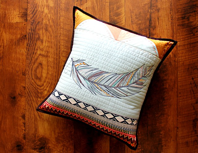 A Feather Sketch Pillow