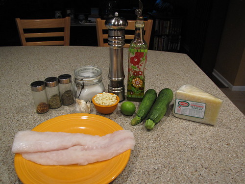 Baked Cod with Zucchini & Corn Ingredients
