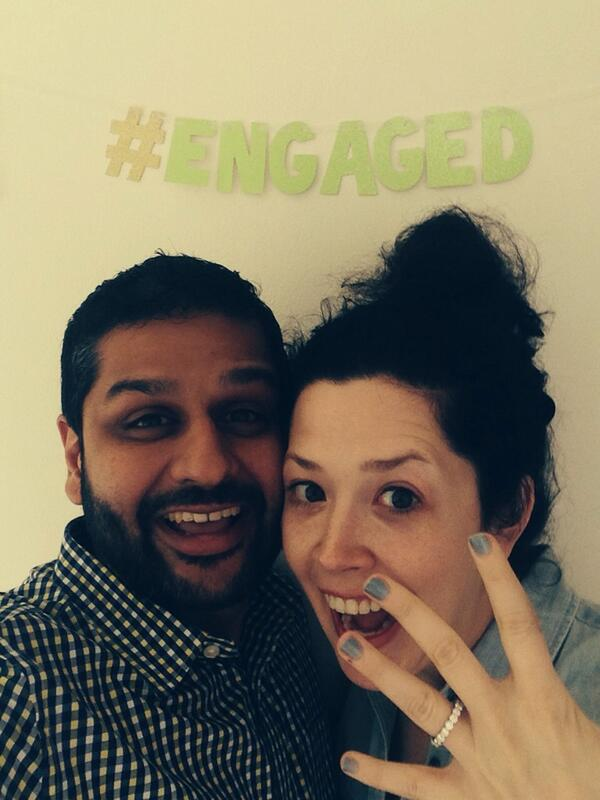 Hashtag engaged banner