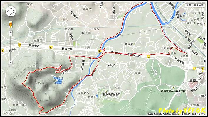 上水麒麟山GPS軌跡 24-09-2014
