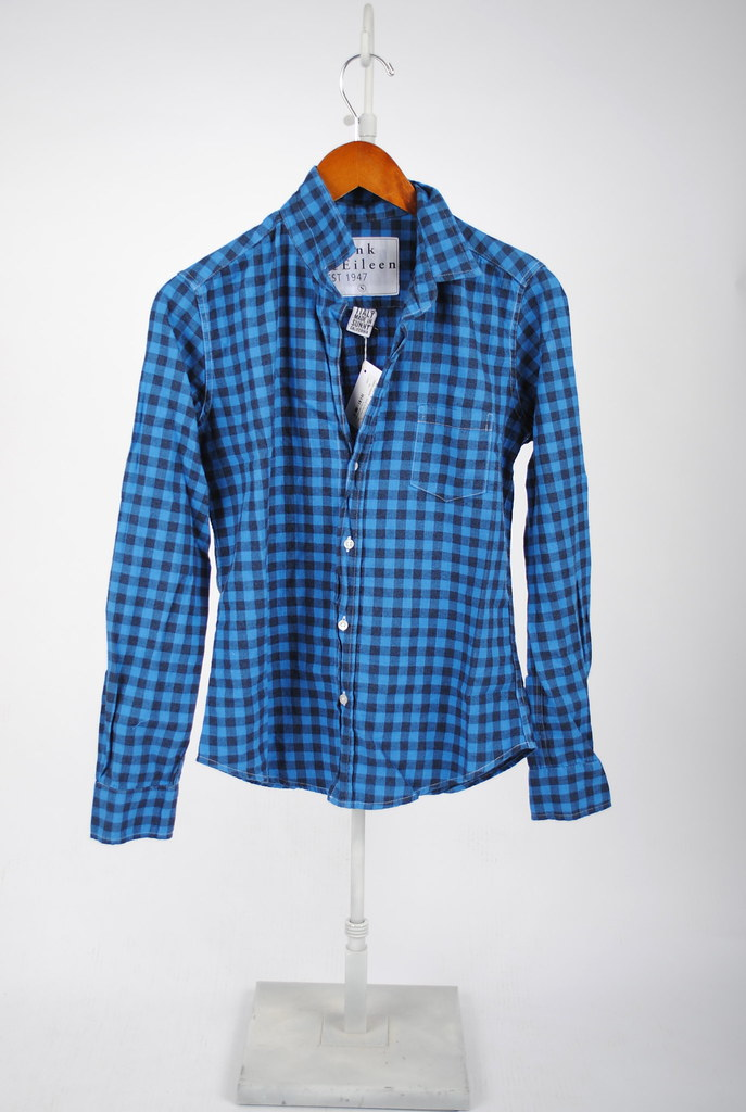 Barry Flannel Shirt - Blue and Navy Check