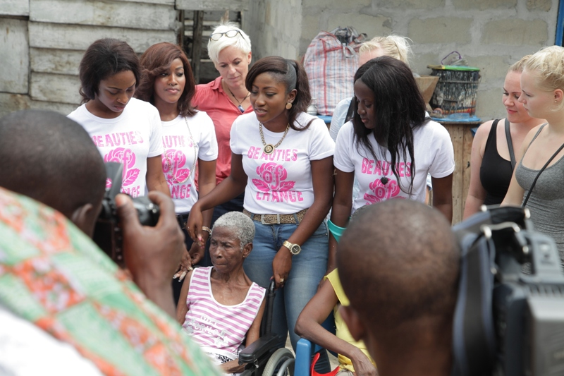 2014 Miss Malaika ladies out on Charity Task