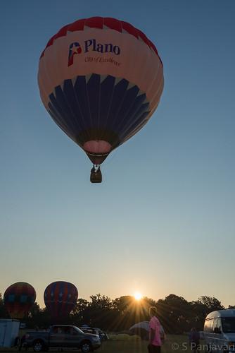 sky sun sunrise texas unitedstates balloon plano planoballoon