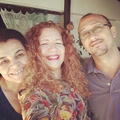 Com Milena e Marcondes...