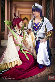 Kougyoku Ren and Sinbad (Magi)