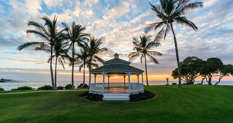 Gazebo Sunset, Big Island