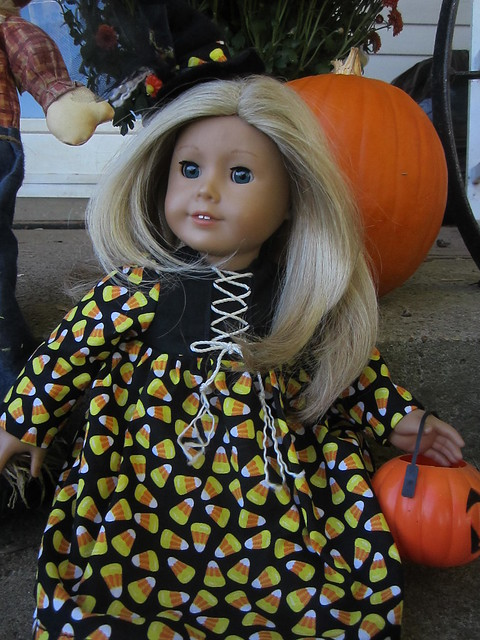 Candy Corn Witch Doll Dress
