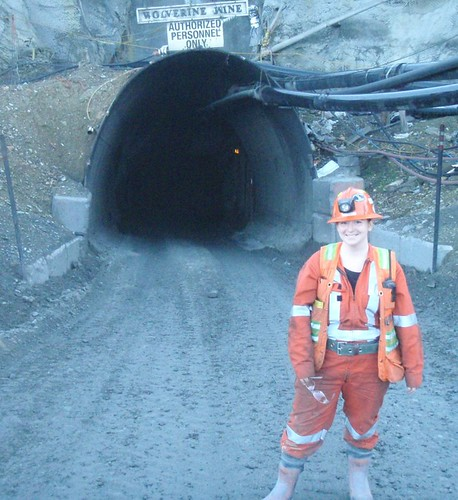 In front of the mine portal