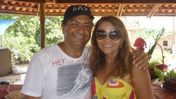 O casal Roberto e Vera Branco