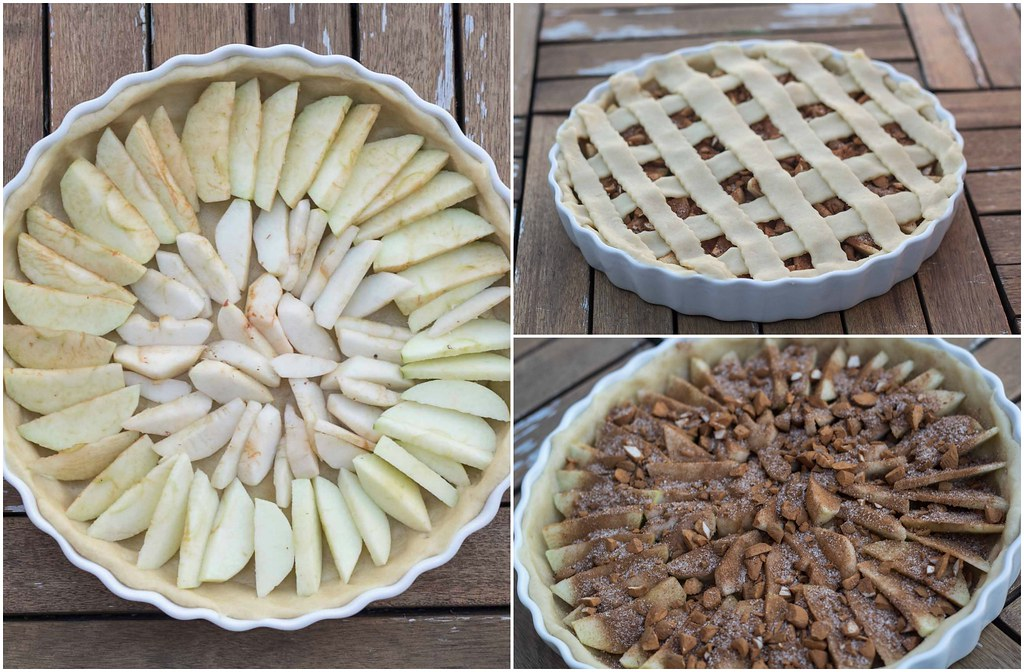 Recipe for Homemade Apple Pie with Cinnamon and Almonds