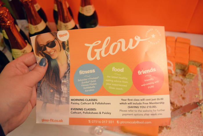 Glow fitness leaflet