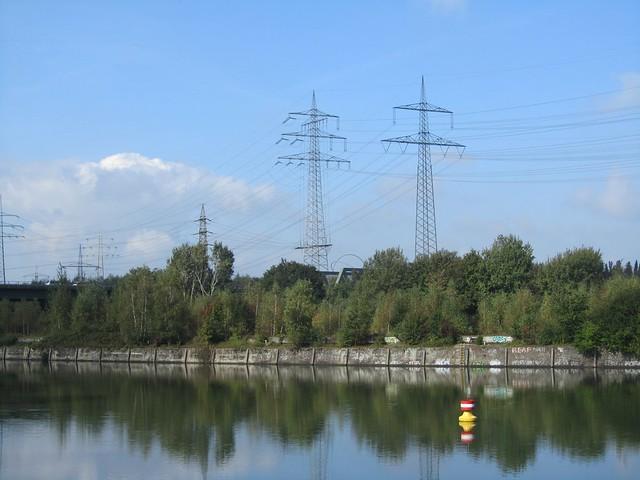Rhein-Herne-Kanal im Sonnenschein