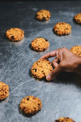 Dried Apricot and Fig Almond Oatmeal Cookies